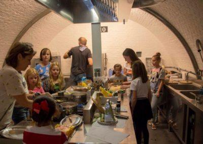 De kook-workshop in volle gang
