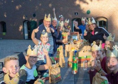 Diner met vrijwilligers van Burger King
