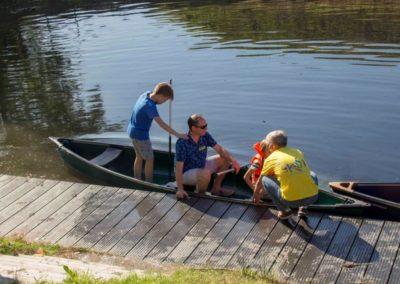 Een kano tochtje om het fort